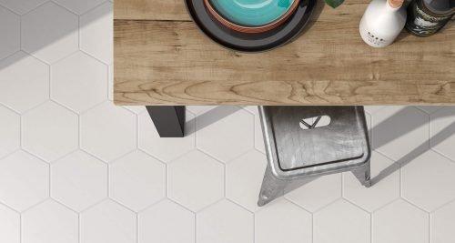 Solid Hexagon Porcelain Tile